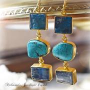 天然石 パワーストーン|アパタイト ターコイズ カイヤナイト デザイナーズジュエリー パワーストーンピアス イヤリング