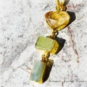 天然石 パワーストーン|シトリンクォーツ グリーンカイヤナイト アクアマリン デザイナーズジュエリー ペンダント