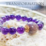 天然石 パワーストーン アイオライトサンストーン アイオライト サンストーン アメジスト 紫水晶 パワーストーンブレスレット