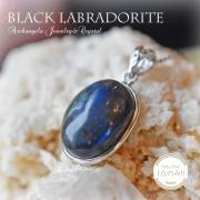 天然石 パワーストーン|ラブラドライト ブラックラブラドライト Labradorite ペンダント シルバー アーキエンジェルズ 大分市