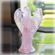 天然石 パワーストーン|ローズクォーツ 薔薇水晶 エンジェル 天使 カーヴィング 彫刻 オブジェ 浄化 アーキエンジェルズ