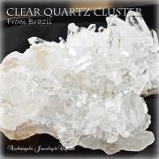 天然石 パワーストーン|クリアクォーツクラスター 水晶 ブラジル産 浄化 保護 護符 パワースポット 原石 アーキエンジェルズ
