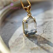 天然石 パワーストーン|デュモルチェライトinクォーツ silver925 18K gold plated Un mauve アンモーヴ ペンダント