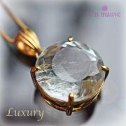 天然石 パワーストーン|ルチルトパーズ silver925 18K gold plated Un mauve アンモーヴ ペンダント アーキエンジェルズ