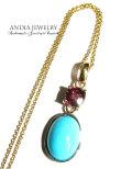 ANDIA JEWELRY 「Rhodoraite &Turquoise」