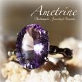 天然石 パワーストーン| アメトリン シトリンクォーツ アメジスト リング 指輪 アーキエンジェルズ