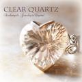 天然石 パワーストーン|リング 指輪 クリアクォーツ 水晶 ハート