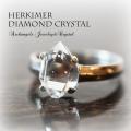 天然石 パワーストーン|ハーキマーダイヤモンドクリスタル ニューヨーク ハーキマー リング 指輪 silver925 アーキエンジェルズ