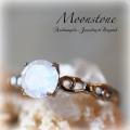 天然石 パワーストーン|ムーンストーン リング 指輪 silver925 アーキエンジェルズ