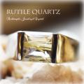 天然石 パワーストーン|ルチルクォーツ メンズ ユニセックス リング 指輪 シルバー925 アーキエンジェルズ