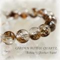 天然石 パワーストーン| ガーデンルチルクォーツ 庭園水晶 ルチル入りガーデンクォーツ ブレスレット