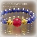 天然石 パワーストーン|  ルビー Ruby サファイア ブレスレット