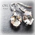 天然石 パワーストーン|オイルinクォーツ オイル入り水晶 ピアス シルバー アーキエンジェルズ