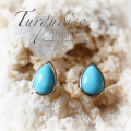 天然石 パワーストーン|ピアス イヤリング ターコイズ Turquoise ドロップ