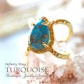 天然石 パワーストーン|ターコイズ トルコ石 12月の誕生石 14K 14金 リング プレゼント アーキエンジェルズ 大分市