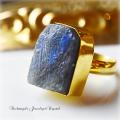 天然石 パワーストーン|ラブラドライト デザイナーズジュエリー パワーストーンリング ファッションリング 指輪 アーキエンジェルズ