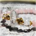 天然石 パワーストーン|ハーキマーダイヤモンドクリスタル クリアクォーツ ローズクォーツ パワーストーンブレスレット