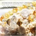 天然石 パワーストーン|ハーキマーダイヤモンドクリスタル クリアクォーツ シトリンクォーツ パワーストーンブレスレット