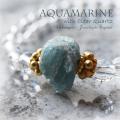 天然石 パワーストーン| アクアマリン ベリル クリアクォーツ  水晶 パワーストーンブレスレット