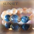 天然石 パワーストーン|ブルーフローライト クォンタムクアトロシリカ マイカインクォーツ Sunset パワーストーンブレスレット
