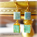 天然石 パワーストーン|ラリマー クリソプレーズ デザイナーズジュエリー パワーストーンピアス イヤリング アーキエンジェルズ