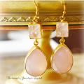 天然石 パワーストーン|ローズクォーツ 紅水晶 デザイナーズジュエリー パワーストーンピアス イヤリング アーキエンジェルズ