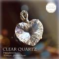 天然石 パワーストーン|クリアクォーツ 水晶 ClearQuartz ハート シルバー Silver  ペンダント アーキエンジェルズ