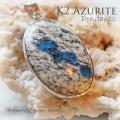 天然石 パワーストーン|K2アズライト アズライト グラナイト ヒーリング 癒し ペンダント レア アーキエンジェルズ