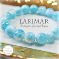 天然石 パワーストーン|ラリマー larimar  ラリマール ブルー・ペクトライト パワーストーンブレスレット アーキエンジェルズ