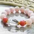 天然石 パワーストーン|クリアクォーツ 水晶 ピンクオパール ピンクカルサイト パワーストーンブレスレット アーキエンジェルズ