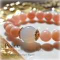 天然石 パワーストーン|ブルーレースアゲート アゲート 瑪瑙 ピンクオパール オパール Peace 平和 アーキエンジェルズ