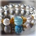 天然石 パワーストーン|アクアマリン クンツァイト アイリスクォーツ レインボークリスタル パワーストーンブレスレット
