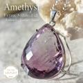 天然石 パワーストーン|アメジスト 紫水晶 ナミビア産 癒やし ヒーリング 守護石 ペンダント アーキエンジェルズ