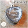 天然石 パワーストーン|セイムチャン隕石 メテオライト ハート型 ペンダント 天然隕石 隕石 アーキエンジェルズ 大分市