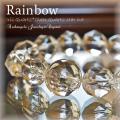 天然石 パワーストーン|アイリスクォーツ クリアクォーツ スターカット 水晶 レインボー パワーストーンブレスレット ブレス