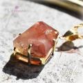 天然石 パワーストーン|ストロベリークォーツ silver925 18K gold plated Un mauve アンモーヴ ペンダント アーキエンジェルズ