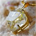 天然石 パワーストーン|オイルインクォーツ ダイヤモンド silver925 18K gold plated Un mauve アンモーヴ ペンダント