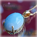 天然石 パワーストーン|アイスラリマー ダイヤモンド ペンダント silver925 18K gold plated Un mauve アンモーヴ
