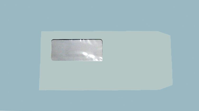 透けない窓付きブルー窓40