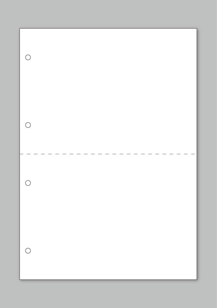 コピー・印刷用紙 100枚 上質A4規格 横ミシン1本4穴