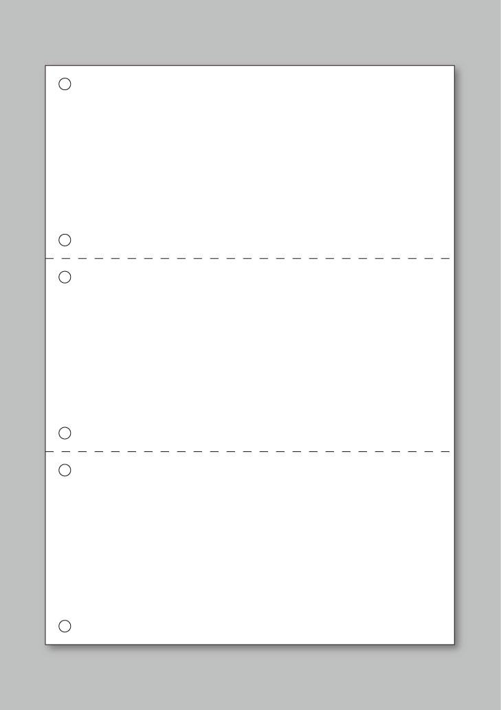 コピー・印刷用紙 100枚 上質A4規格 横ミシン2本6穴