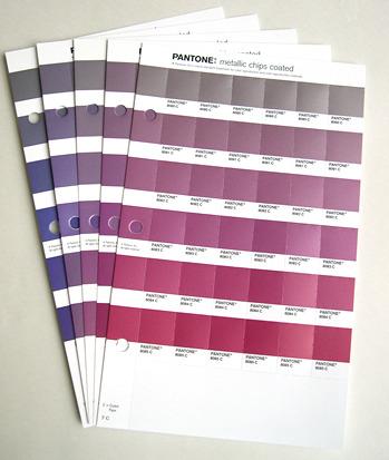 Pantone パントン メタリックチップス 差し替えページ