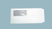 メール便送料無料! A4三つ折用 透けない セロ窓付95×40mm パステルホワイト80 センター貼 100枚