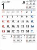 名入れカレンダー H169 3色刷 スケジュール文字月表 100冊