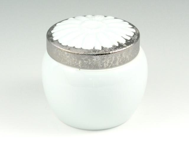 ペット用インテリア骨壺 プラチナ彩 メモリアルポット 4寸(内径9cm)