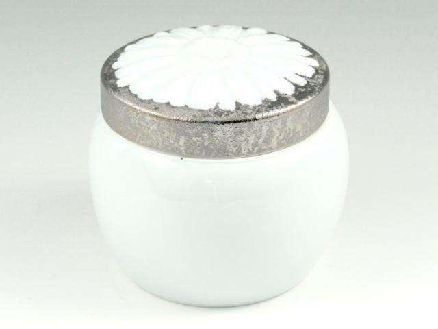 ペット用インテリア骨壺 プラチナ彩 メモリアルポット 5寸(内径12cm)