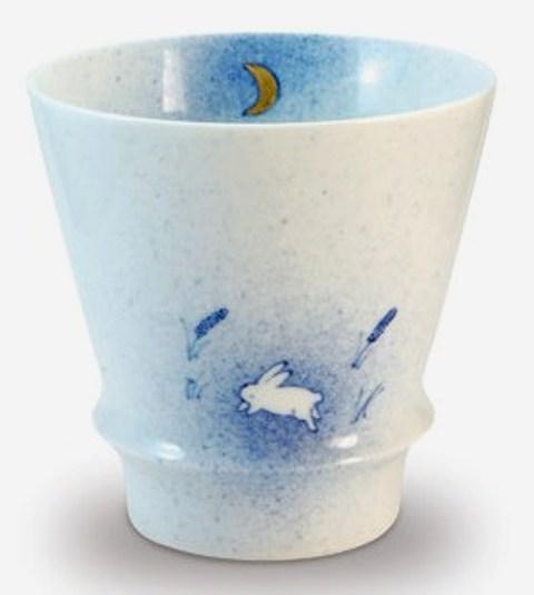 【オリジナル名入れ】  月とうさぎ 至高の焼酎グラス