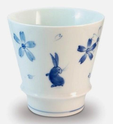【オリジナル名入れ】  花うさぎ 至高の焼酎グラス