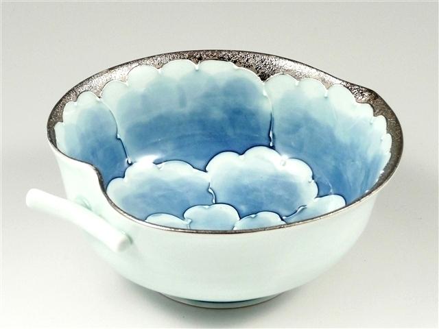 プラチナ牡丹 りんご鉢(小)