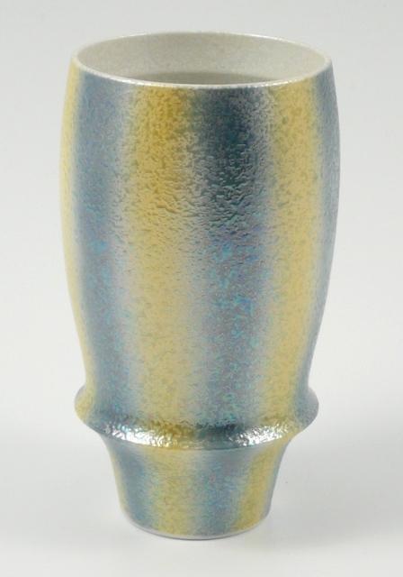 【匠の蔵 プレミアムビアグラス】 ラスター二色縦吹(青)<オリジナル>